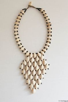 Statement African Tribal Shell Necklace in the M.Montague Souk - Fabulous!