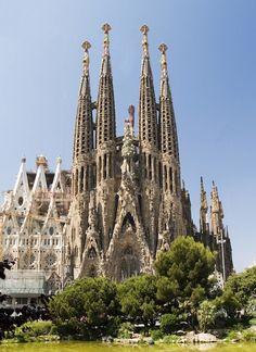Sagrada Familia cathedral in Barcelona designed by Antoni Gaudí