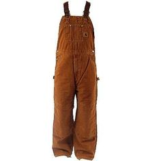 These Carhartt 211 Carhartt Brown Men's Sandstone Duck Quilt-Lined Insulated Bib Overalls aren't as legendary as Excalibur. Carhartt Overalls, Salopette Carhartt, Skater Outfits, Cowboy Up, Outdoor Men, Warm Outfits, Dungarees, Outfits