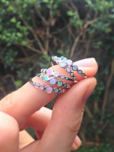 This is a small little ring with a face height of just It features the most striking pink lab opals which look rather like they could be the tears from a unicorn! The opals sparkle and capture the light beautifully. Dainty Jewelry, Cute Jewelry, Jewelry Box, Jewelry Accessories, Jewelry Design, Jewlery, Gothic Jewelry, Harry Potter Accesorios, Diamond Are A Girls Best Friend