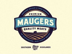 maugers meats logo anim 15 Awesome Badge Designs from Dribbble