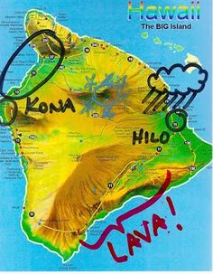 Key To The City-Travel Guide| Serafini Amelia| Travel Tip Hawaii-Where is the lava on the Big Island? MAP