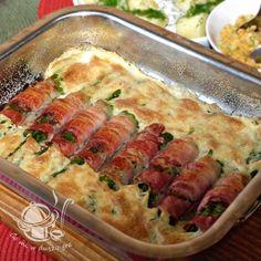 Szparagi z boczkiem pod beszamelem. Zucchini, Grilling, Food And Drink, Mexican, Vegetables, Gra, Ethnic Recipes, Diet, Salad