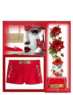 """Moschino"" by bren-johnson ❤ liked on Polyvore featuring Moschino, Oscar de la Renta, The Season Hats and Aziina"