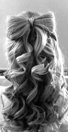 Top 50 Cute Girly Hairstyles with Bows  #hairstyles #hairwithbow