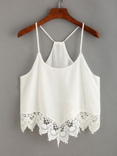Are you looking cami and swing Tops this summer We've picked out the best of the bunch of cami tops; black lace cami top and high neck cami. Chiffon Cami Tops, Sleeveless Crop Top, Lace Crop Tops, Chiffon Shirt, White Chiffon, Cropped White Shirt, White Crop Top Tank, Crop Tank, Cami Crop Top