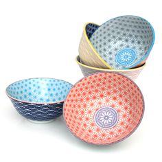 Modern Donburi Bowls - Star Pattern - Destination Dinners