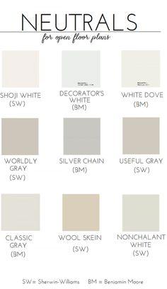 Neutral Paint Colors for an Open Floor Plan