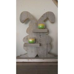 Paashaas van steigerhout - Naambordjes - Accessoires Happy Easter, Easter Bunny, Welcome Spring, Easter Crafts, Wood Pallets, Decoration, Seasonal Decor, Wood Crafts, Projects To Try