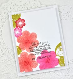 I'm Here For You Card by Dawn McVey for Papertrey Ink (September 2014)