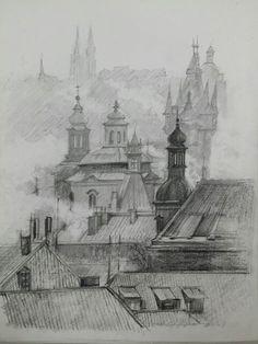 #Sketch #drawing #연필드로잉 #건물 #드로잉 #스케치 #풍경 #building #scape #pencil #그림 # prague #praha
