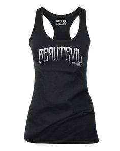 BEAUTEVIL - Aren't We All? http://www.aesoporiginals.com/product/beautevil-tank-top Available as a racer back Tank Top, Baby Doll T-Shirt or Mens Tee Shirt. Aesop Originals brings you the hottest designs from the Streets. We love Tattoos, Skateboarding, and any extreme sport or rockin' beat.
