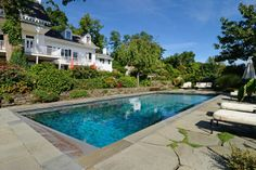 The pool at the Ding Dong House in Sneden's landing has seen its share of celebrity pool parties: Uma Thurman, Margot Kidder and Aaron Copland all spent time here.