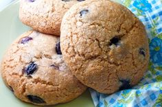 Gluten Free and Dairy Free Blueberry Breakfast Cookies  - I omitted the cinnamon and did almond  - I used xylitol instead of honey and just added more oil and a little almond milk until the  mixture was moist enough to form cookies   - I used a silpat instead of parchement