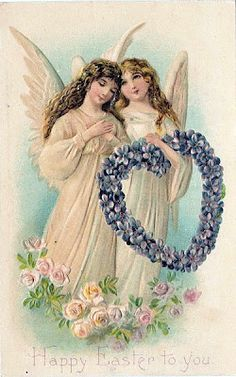 This is a collection of beautiful Vintage Easter Angel Pictures! Included are full color Angel Illustrations and old photos of costumed Angels. Engel Illustration, Vintage Illustration, Angel Images, Angel Pictures, Easter Pictures, Graphics Fairy, Vintage Easter, Vintage Holiday, Old Book Art