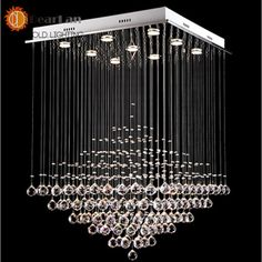 153.00$  Buy now - http://ali02s.worldwells.pw/go.php?t=32342897310 - Modern Led Crystal Chandeliers,Crystal Pendant Lamp First-Level K9 Crystal Chandelier For Living Room