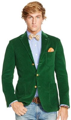 $299, Green Cord Morgan Sport Coat by Polo Ralph Lauren. Sold by Ralph Lauren. Click for more info: http://lookastic.com/men/shop_items/89346/redirect