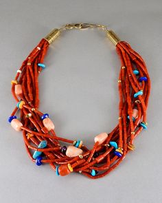 9 STRAND CORAL NECKLACE | Wes Willie | Native Artist | 製品案内 | FUNNY : ファニー