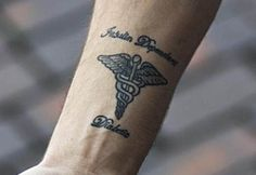 70 Ideas For Medical Tattoo Ideas Inspiration Type 1 Diabetes Tattoo, Medical Memes, Medical Symbols, Dad Tattoos, Girl Tattoos, Tatoos, Tattoo Girls, Medical Alert Tattoo, Medical Tattoos