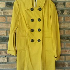 Daisy Fuentes  sunflower double breastfed jacket Alterations made to fit size 4/small Jackets & Coats