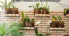 Ideas para Decorar un Jardín Vertical Ideas Para, Cactus, Baguette, Garden, Plants, Wood Planters, Wooden Crates, Vertical Gardens, Interiors