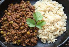Lamb Kheema with Peas | Skinnytaste yummy! Made this tonight with ground beef