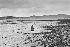 Richard Long, Nomad Circle, 1996 Mongolia
