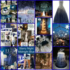 STARRY NIGHT - MIDNIGHT BLUE wedding inspiration http://www.facebook.com/pages/Rock-your-Locks/133025596754055?fref=ts