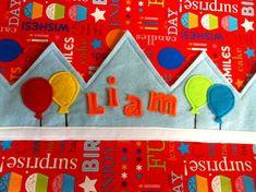 Corona+de+cumpleaños+personalizadas++azul+por+LittleSpeckledFrog,+$15.00