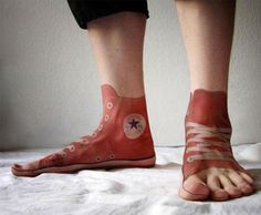 Converse or Shoes 3D Tattoos