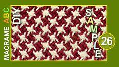 Macrame ABC - pattern sample #26 with Stars
