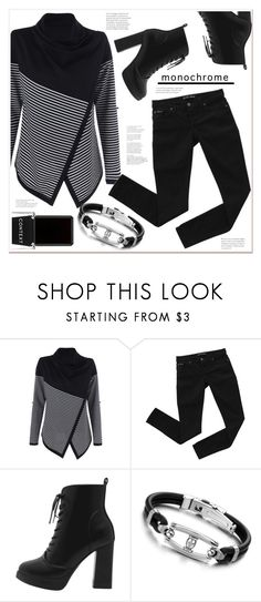 """""""monochrome"""" by mycherryblossom ❤ liked on Polyvore featuring Bardot and Context"""