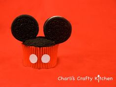 Mickey Mouse cupcake tutorial by Charli's crafty kitchen on YouTube