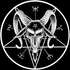 Inverted Pentacle with a Goats Head is the official symbol of the Church of Satan - it is called the Sigil Of Baphomet