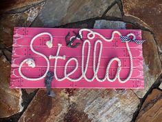 Items similar to Nautical Nursery Nautical Names, Nautical Nursery, Nautical Rope, Nursery Name, Nursery Signs, Lake Signs, Beach Signs, Stella Rose, Baby Girl Names