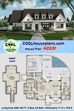 Pool House Plans, Barn House Plans, Craftsman House Plans, Modern House Plans, Small House Plans, Farmhouse Floor Plans, Mirror House, Modern Farmhouse Design, Dream Home Design