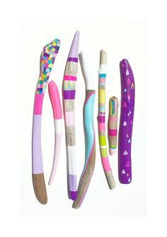 Neon Painted Sticks Collection for Home Decor  by bonjourfrenchie, $120.00
