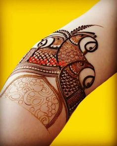 Peacock Mehndi Designs, Simple Arabic Mehndi Designs, Henna Art Designs, Mehndi Designs 2018, Modern Mehndi Designs, Mehndi Designs For Girls, Mehndi Design Pictures, Wedding Mehndi Designs, Dulhan Mehndi Designs