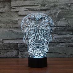 4 styles Skull shape 3D LED Lamp – GoAmiroo Store