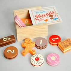 Traditional Biscuit Counting Game:  Just bought this as a gift - it's an adorable set!