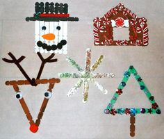 easy kids christmas crafts find craft ideas pertaining to christmas crafts for kids Preschool Christmas Crafts, Holiday Crafts For Kids, Easy Crafts For Kids, Xmas Crafts, Craft Stick Crafts, Craft Kits For Kids, Art Activities For Kids, Craft Ideas, Simple Christmas