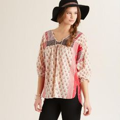 One of my favorite discoveries at WorldMarket.com: Ivory and Berry Dani Top