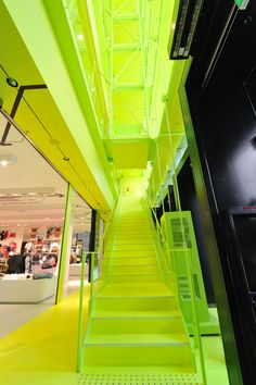 Awesome lime green!  Apparently this is a Bershka store? If it is AWESOME cause I LOVE that store!