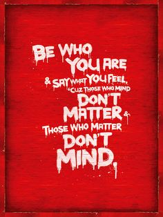 Be Who You Are | Unknown author