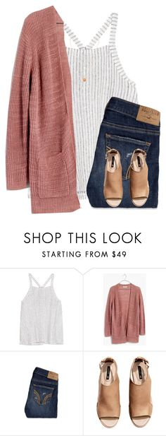 """it's so cold at the beach"" by kellycarrick ❤ liked on Polyvore featuring Splendid, Madewell, Hollister Co., H&M and Cartier"