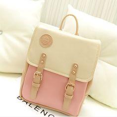 Cute sweet college wind bag backpack
