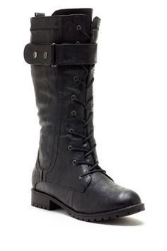 Lace-Up Combat Boot - never goes out of style.  I wonder if they would fit my giant calves?