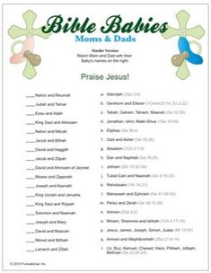 Fun Christian Baby Shower Game Ideas
