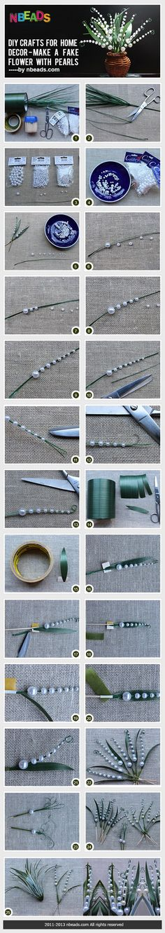 DIY Crafts for Home Decor - Make A Fake Flower with Pearls – Nbeads