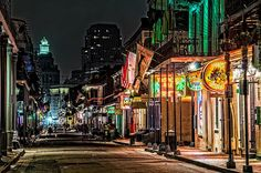 Bourbon Street Glow Photograph by Andy Crawford